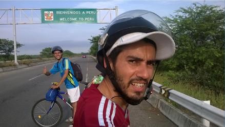 Cuatro venezolanos llegaron a Perú en bicicleta después de 35 días de viaje