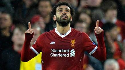 Liverpool goleó a la Roma en Champions con una brillante actuación de Mohamed Salah