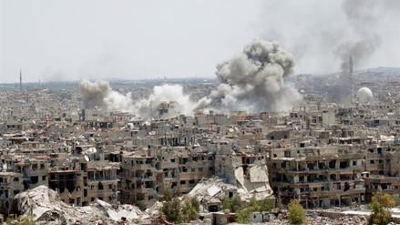 Mueren 119 personas en seis días de ofensiva militar en el sur de Damasco