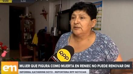 Mujer que fue dada por muerta por el Reniec pudo sacar su DNI: