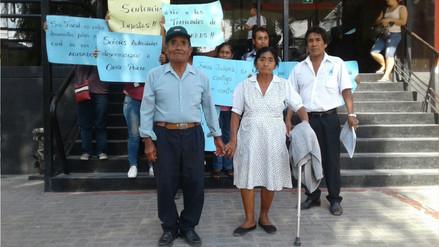 Sentencian a prisión suspendida a pareja de ancianos por disputa de un predio en Chiclayo