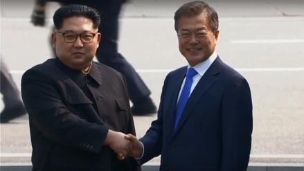 Líderes de las dos Coreas se encontraron en zona desmilitarizada para histórica cumbre