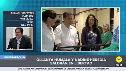 INPE está a la espera de la resolución que ordena la excarcelación de Humala y Heredia