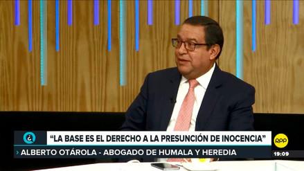 Otárola sobre libertad de Humala y Heredia: