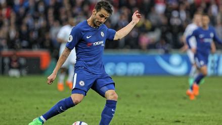 El golazo de Cesc Fabregas que le dio el triunfo al Chelsea ante Swansea City