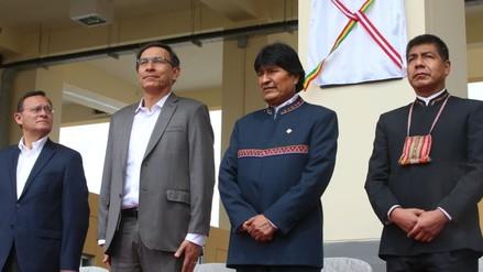 Vizcarra y Morales inauguraron el Centro Binacional de Atención Fronteriza en Desaguadero