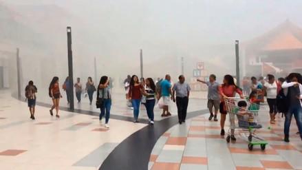 Un amago de incendio se registró en centro comercial Mega Plaza
