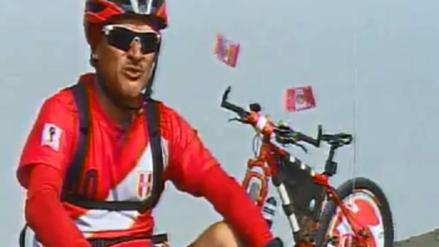 Fanático de la Selección Peruana irá al Mundial Rusia 2018 en bicicleta