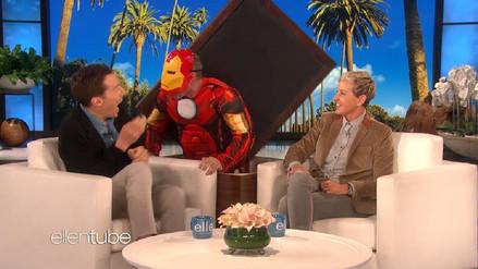 Dr. Strange recibió susto de Iron Man en el show de Ellen DeGeneres
