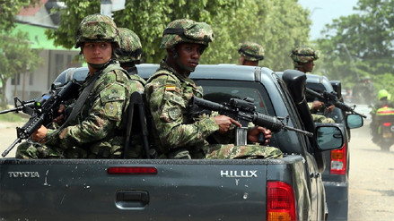 Ejército colombiano capturó a 7 integrantes de organización criminal que lidera 'Guacho'