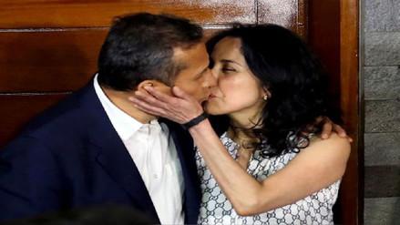 Ollanta Humala y Nadine Heredia sellaron su reencuentro con un beso