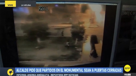 Barristas de Universitario y Sporting Cristal se enfrentaron afuera del Monumental
