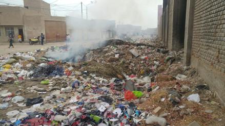 Vecinos de José Leonardo Ortiz queman basura en la vía pública