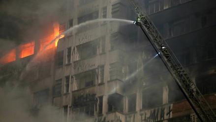 Video | Así fue el derrumbe del edificio que se incendió en Sao Paulo