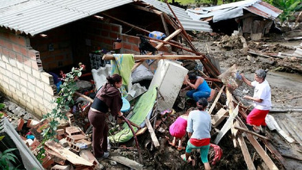 Colombia reporta más de 600,000 personas afectadas por desastres naturales en 2017