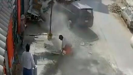 Un albañil fue atropellado por conductor ebrio en Los Olivos