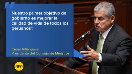 Las frases que dejó César Villanueva en su presentación ante el Congreso