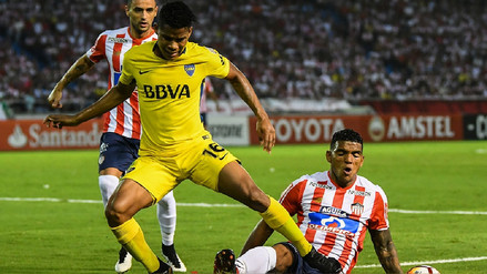 Mira los goles del empate 1-1 entre Junior y Boca Juniors