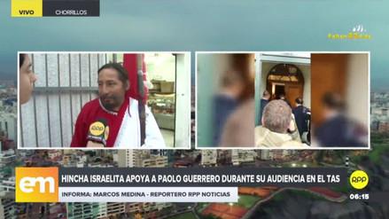 El 'Hincha israelita' realiza una vigilia por Paolo Guerrero en la casa de 'Doña Peta'