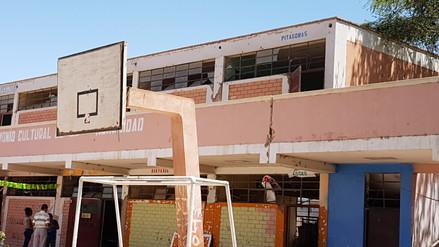 Escolares en peligro tras advertirse fallas en estructura de colegio en Ica