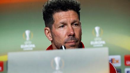 Diego Simeone no dirigirá al Atlético en la final de la Europa League