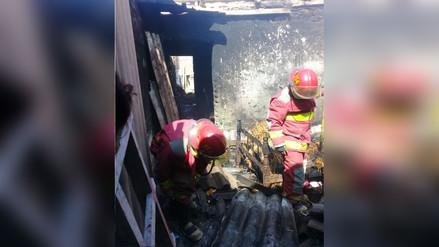Anciana salva de morir tras incendio de su vivienda