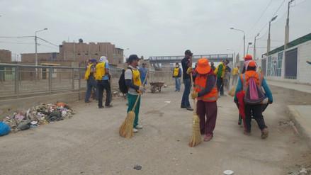 Internos recogen 20 toneladas de basura en avenida Chiclayo
