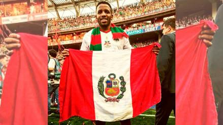 Jefferson Farfán le dedicó al Perú el título que logró con el Lokomotiv
