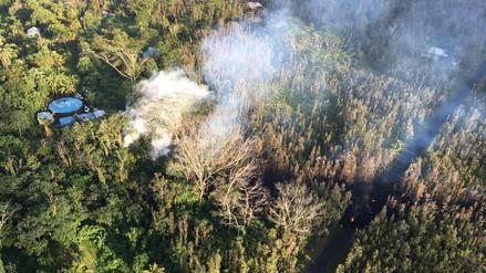 Erupción del volcán Kilauea en Hawái forma grandes grietas en la ciudad