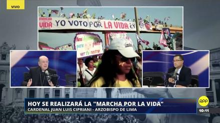 """Juan Luis Cipriani: """"La 'Marcha por la vida' no es un tema político"""""""