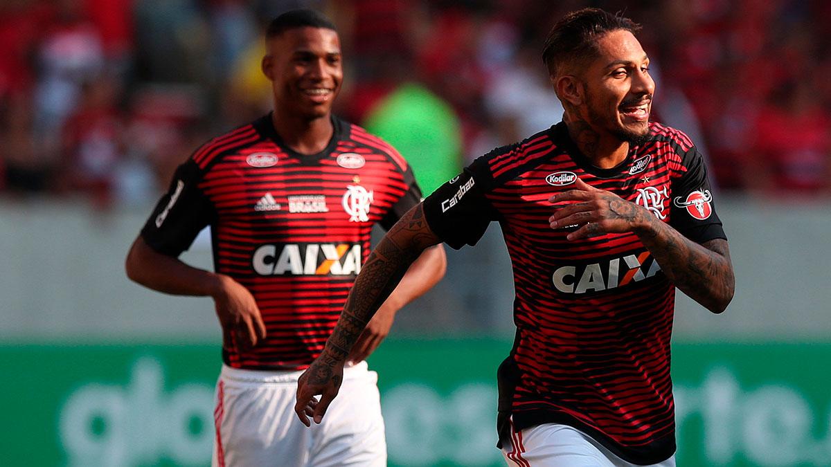 Paolo Guerrero regresó a las canchas con el Flamengo