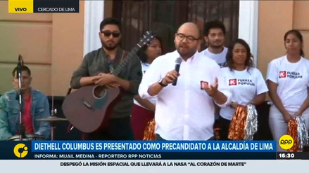 Diethell Columbus fue presentado como candidato a Lima por Fuerza Popular