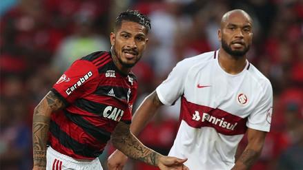 Con la vuelta de Paolo Guerrero, Flamengo venció 2-0 al Inter por el Brasileirao