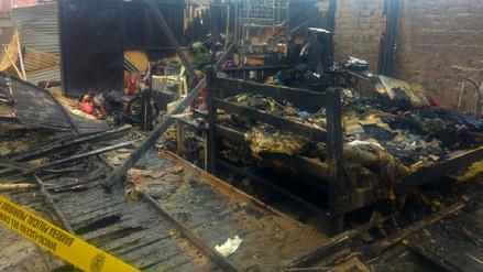 Dos niñas murieron en incendio de módulo de vivienda en Pimentel