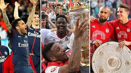 Fotos | Jefferson Farfán con Lokomotiv y los otros equipos campeones en el fútbol europeo