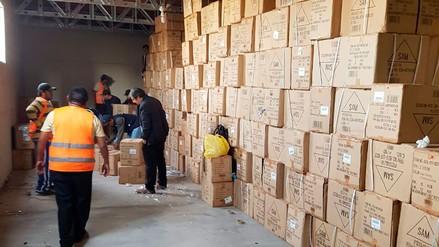 Policía incautó donaciones valorizadas en S/ 30 millones que eran comercializadas