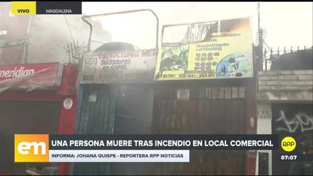 Murió una persona en un incendio en un local comercial de Magdalena