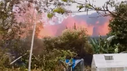 Residente de Hawái grabó cómo la lava brotaba desde el patio de su casa