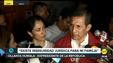 Humala dijo que proceso en su contra
