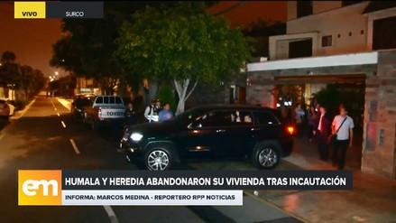 Ollanta Humala y Nadine Heredia abandonaron su casa tras orden de incautación