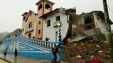 Lluvias provocan el derrumbe de una casona en Cajamarca
