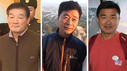 Profesores y empresarios: el perfil de los tres estadounidenses liberados por Corea del Norte