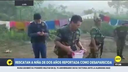 Policías rescataron a menor de dos años que desapareció hace más de un mes en Junín