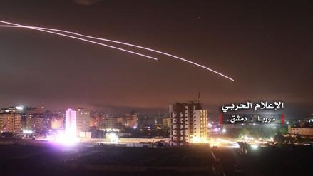 Siria divulgó imágenes del ataque de Israel a objetivos iraníes en su territorio