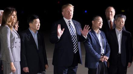 Trump agradeció a Kim Jong-un la liberación de tres estadounidenses