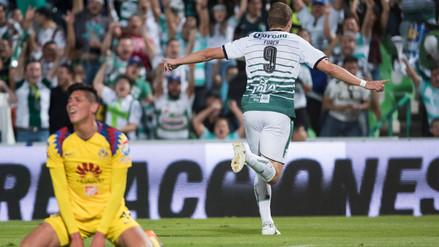 Santos Laguna goleó al América en la primera semifinal de la Liga MX