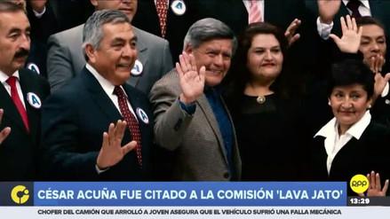 La Comisión Lava Jato citó a César Acuña