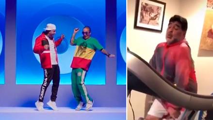 """J Balvin comparte video de Diego Maradona bailando """"X"""""""