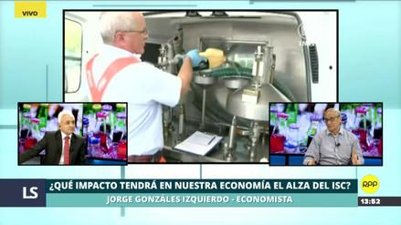 González Izquierdo negó que alza del ISC ayude a reactivar la economía en el corto plazo