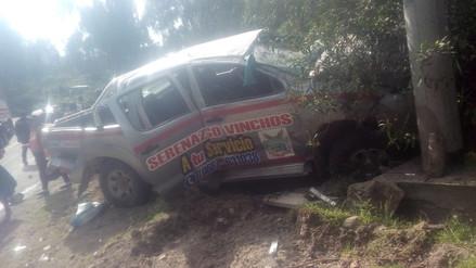 Cuatro muertos y nueve heridos por despiste de camioneta de serenazgo en Ayacucho